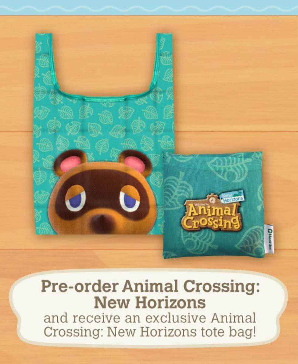 Just pre ordered #AnimalCrossingNewHorizon thru Walmart so I could get the tote bag. All the pre order options out there were super cute but this was the most practical imo    Yes, I'm that boring. pic.twitter.com/6qPKl7b4fU