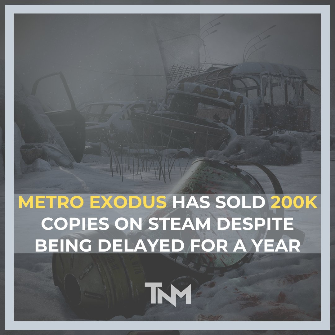 Metro Exodus has sold 200k copies on steam despite being delayed for a year https://buff.ly/2HGK8P7   To read more follow the link in the bio. Follow us for more news related to gaming and technology⠀ ⠀ #MetroExodus #Metro #Games #PCGames #SteamGames #4AGames #DeepSilver #Steampic.twitter.com/c9gpEuD13W