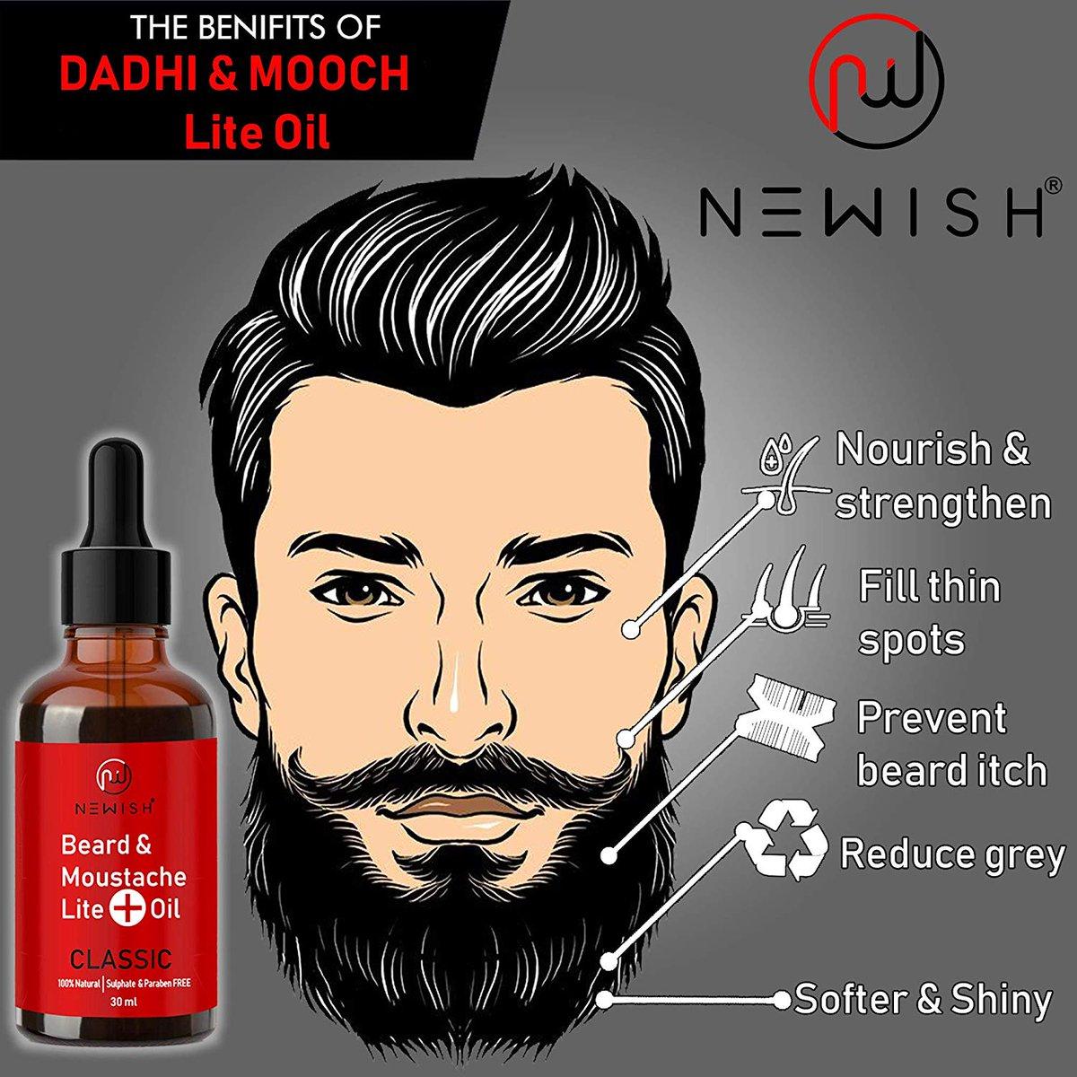 Newish Lite Mooch & Beard Oil For Men  Newish Lite Moustache Beard Oil strengthens the beard and provides deep nourishment to the hair follicles leading to healthy, stronger, fuzz-free beards.  Buy Now: https://amzn.to/34yylvC  #beardoil #beardoils #beardoilnatural #litebeardpic.twitter.com/MT1FhVbzlp