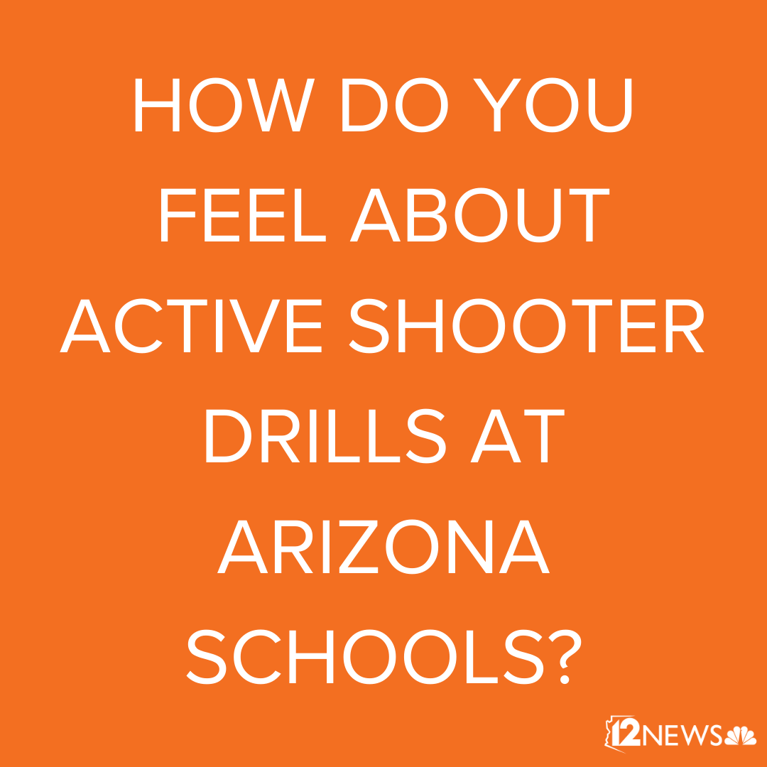 How do you feel about active shooter drills at Arizona schools? Are they important for safety or an unnecessary trauma for students? Let us know what you think! Text Team 12 at 602-444-1212 to be featured on #TodayinAZpic.twitter.com/7AnbCos249