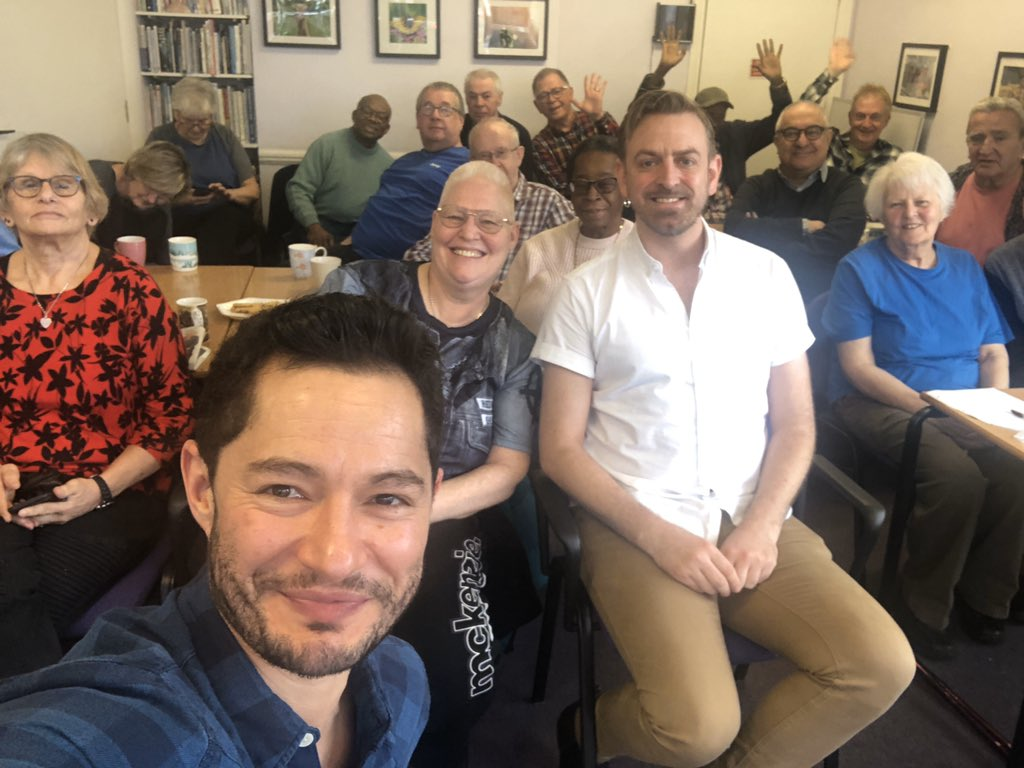 Brilliant morning with some truly lovely people. 😊❤️🌈 @LGBTQWandsworth