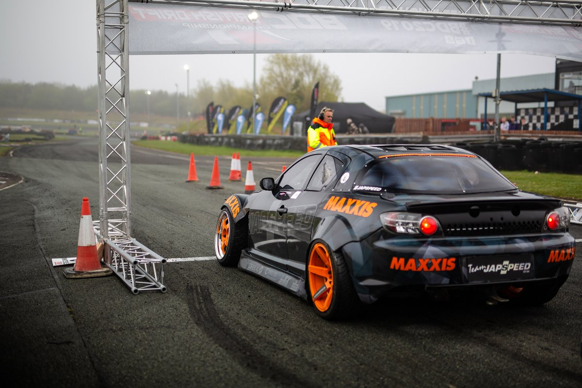 The 'Gentleman Driver' waiting patiently for his turn. #japspeed #teamjapspeed #bdc #round1 #bdc2020 #britishdriftchampionship #drift #drifting #driftcar #becausedriftcar #mazda #rx8 #mazdarx8 #engineswap #v8 #mazdav8 #rotary #jdm #maxxis #teesside #threesisters #racetrack