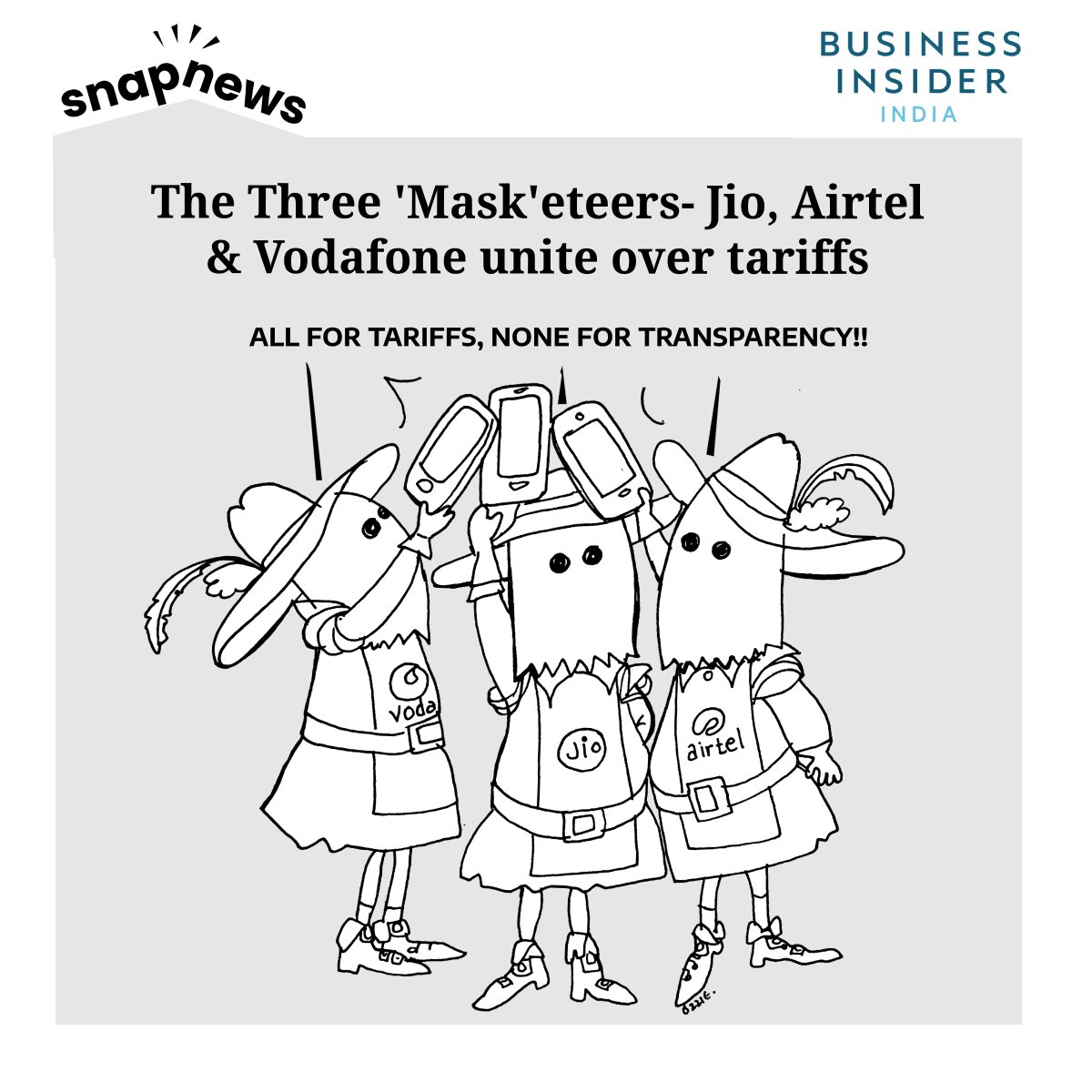 #InsiderInJest | Mukesh Ambani's Jio disagrees with Airtel, Vodafone on everything except tariffs and transparency. Read more: bit.ly/2wy7tQW