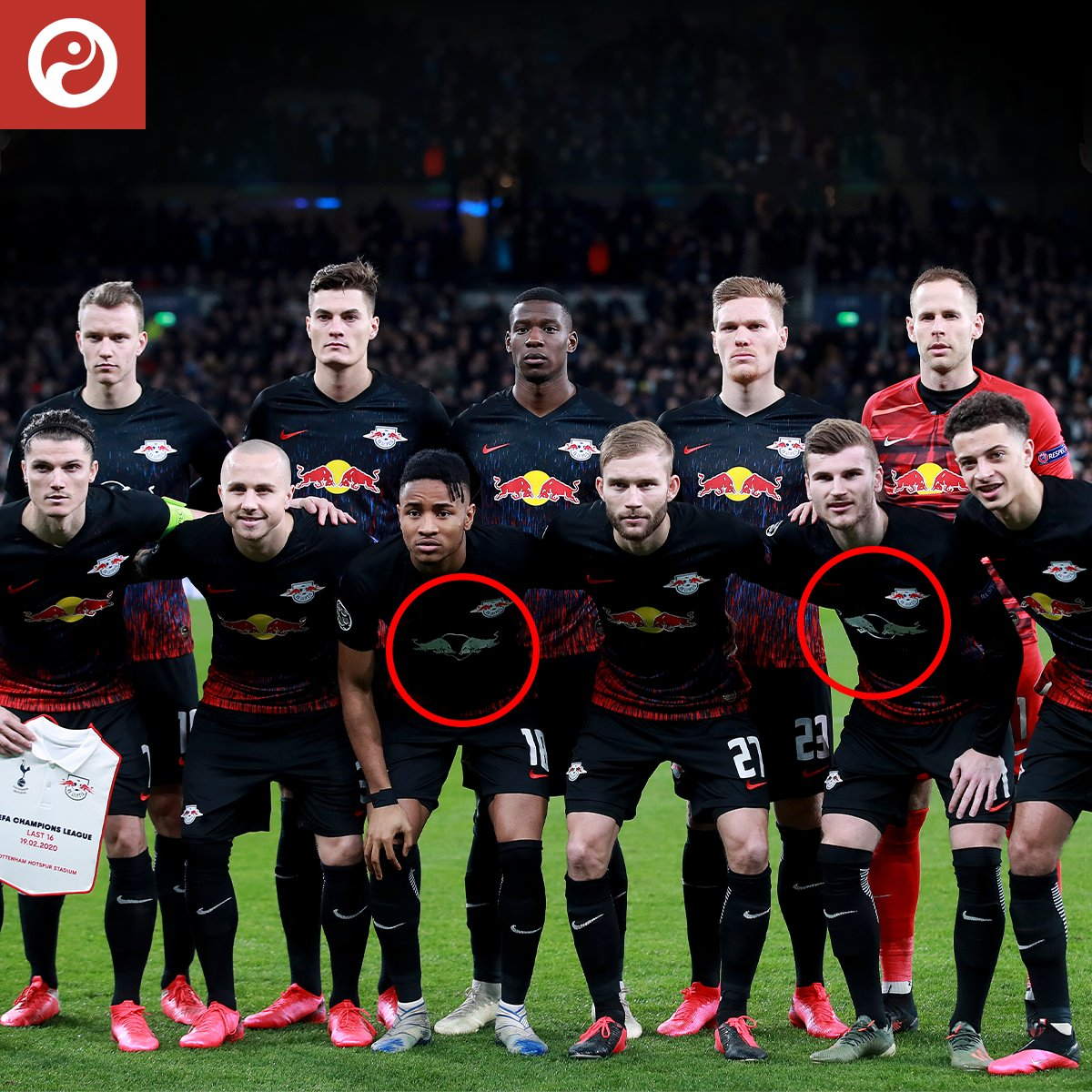 EXPLAINED: Why RB Leipzig had two different coloured sponsors against Tottenham - bit.ly/RBColours