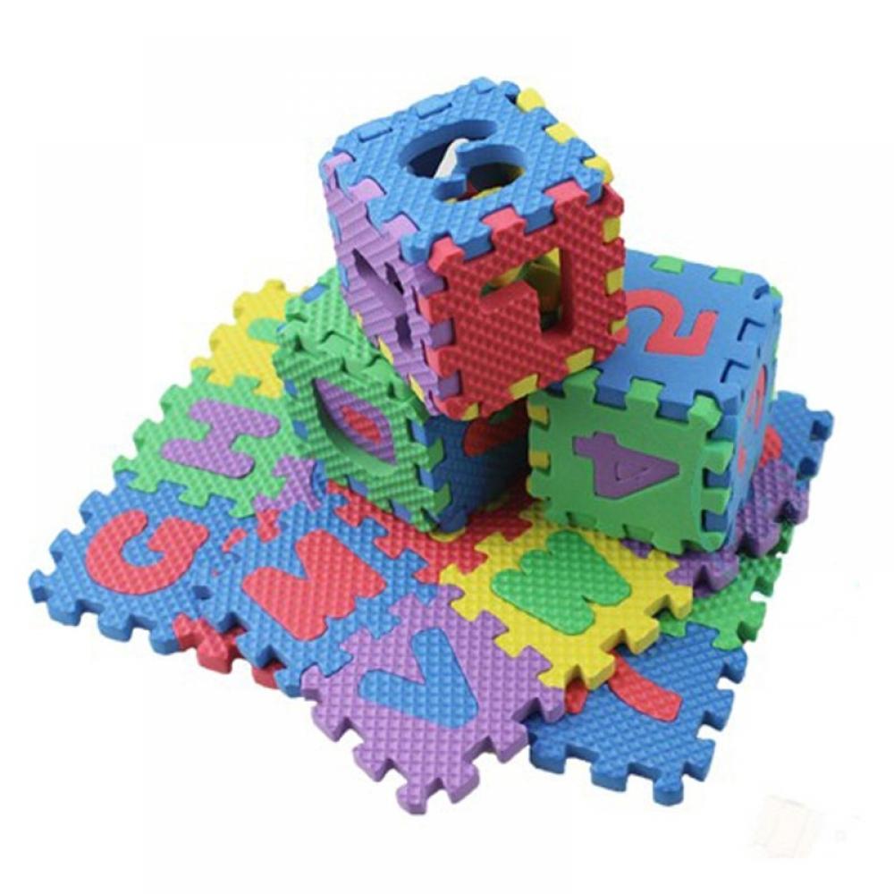 #pretty #adorable Letters and Numerals Puzzle 36 pcs/Set