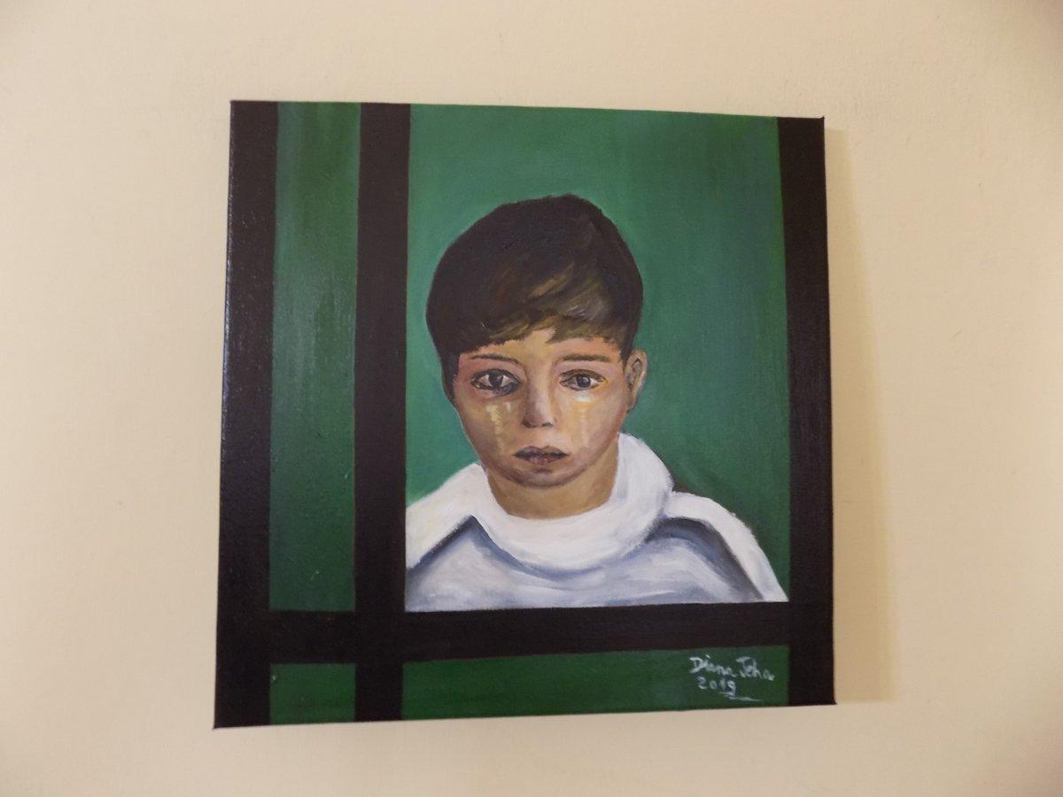 visualartopen#VAO20 ENTRY 198| Diana Jeha - A Portrait of a traumatized Arab refugee Boy  Diana Jeha (facebook & instagram) #artcompetitions #artprize#visualartopen #artcollector #artist #emergingartist #interiorart #artfair #artmuseum#timemagazine #visualartistsassociationpic.twitter.com/BdU5nIFUTt