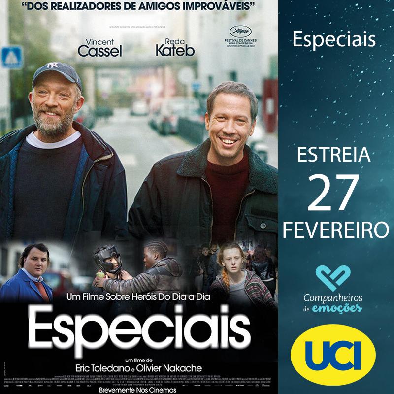 Especiais -  Bruno (Vincent Cassel) e Malik (Reda Kateb) vivem há 20 anos num mundo diferente: o mundo das crianças e dos adolescentes autistas. Em exibição nos cinemas UCI a 27 de Fevereiro. +info: http://ucicinemas.pt/Filmes/especiais… #Estreia #Cinema #Filmes #UCICinemas #Especiaispic.twitter.com/99PJdEplJH