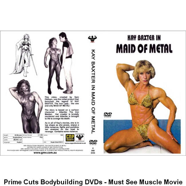 Must See Muscle Movie - Prime Cuts Bodybuilding DVDs  Kay Baxter in Maid Of Metal   http://bit.ly/2wxwnQG    #biceps  #bodybuilder  #bodybuilding  #flexing  #posing  #abs  #npc  #muscles  #shredded  #abs  #ifbb  #nabba