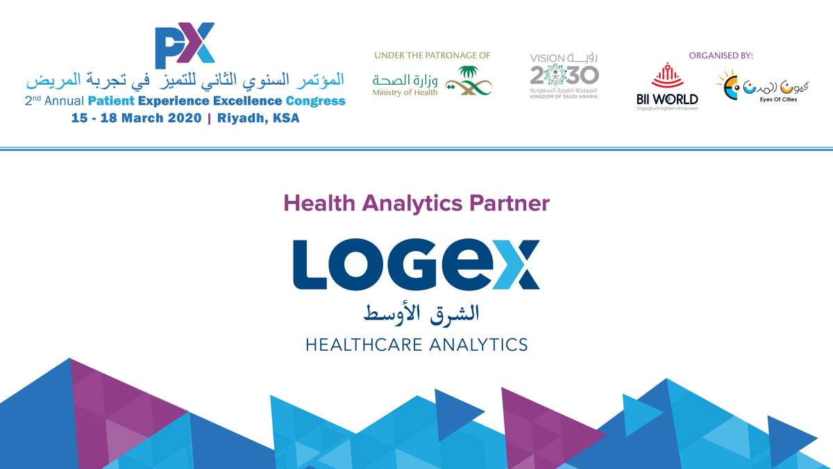 @biiworld  is proud to announce #LOGEX  as a #HealthAnalyticsPartner  at the 2nd Annual #PXECongress  2020 which will be held at @InterConRiyadh , #SaudiArabia  on 15th-17th March, 2020  Join Us Here -  http://bit.ly/3aSPaW8     #biiworld  #patientexperience  #riyadh  #medical  #healthcare