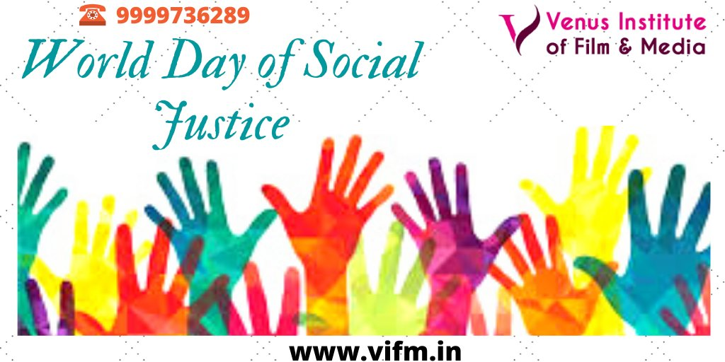 #ActingSchoolinJaipur  Congratulate to all, on the World Day of Social Justice. On this day we got the right to equality and justice for social conservatism. #Dance  #SocialJustice  #People  #Equality  #Acting  #Bollywood  #India  #Actress  #Film  #Media  #Jaipur   https://bit.ly/2ucIodl