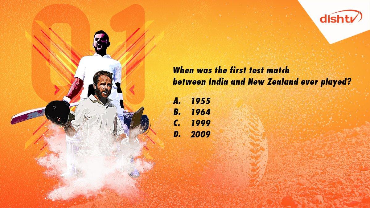 "Q1. ""When was the first test match between India and New Zealand ever played?""  Reply to us with the hashtag #IndvsNZTestCricket and win big.  #ContestAlert #ContestIndia #Contest<br>http://pic.twitter.com/jSAjXQZQ29"