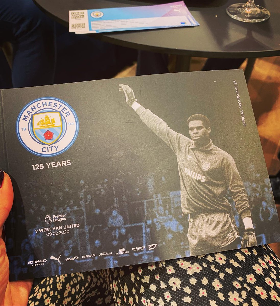 Great night at the match. 3 points. Loved the programme cover. #alexwilliamsmbe #mancity #mcfc #ctid #football #friends
