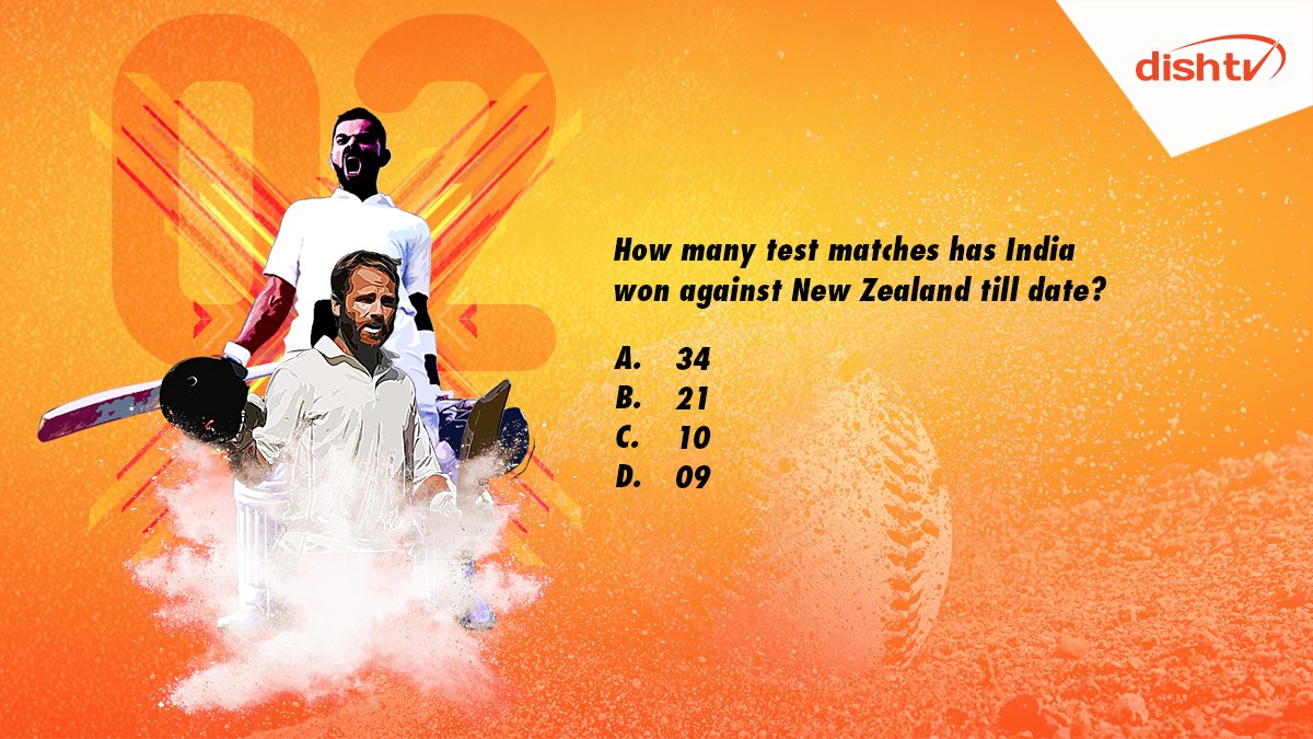 "Q2. ""How many test matches has India won against New Zealand till date?""  Use #INDvsNZTestCricket in your answer, and win prizes as you cheer for India.  #ContestAlert #ContestIndia #Contest<br>http://pic.twitter.com/zgvpIJ8i5o"