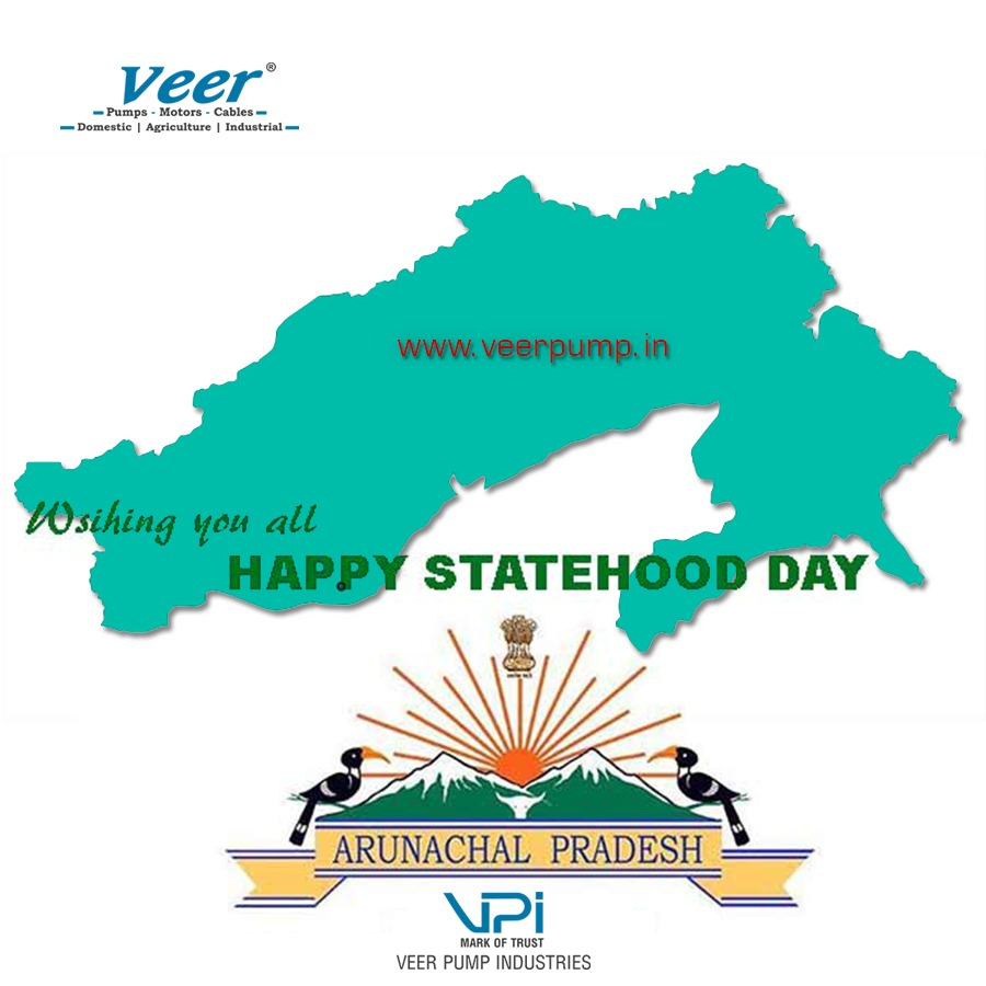 #ArunachalPradesh #FoundationDay is celebrated on 20 #February as on this #day it gained the status of the #UnionTerritory and named #Arunachal_Pradesh.  #statehoodday #state   #veer #veerpump #submersiblepumps #pumps #pump #motor http://www.veerpump.in +919924476551pic.twitter.com/Iw27jpIsN7