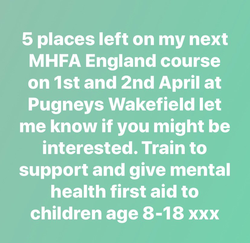@MHFAEngland  #Wakefield  #children  #care  #compassion  #kindness