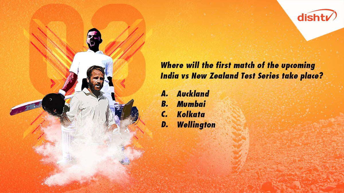 "Q3. ""Where will the first match of the upcoming India vs New Zealand Test series take place?""  Don't forget to answer using #INDvsNZTestCricket and win amazing prizes!  #ContestAlert #ContestIndia #Contest<br>http://pic.twitter.com/OjGjPmeYJp"
