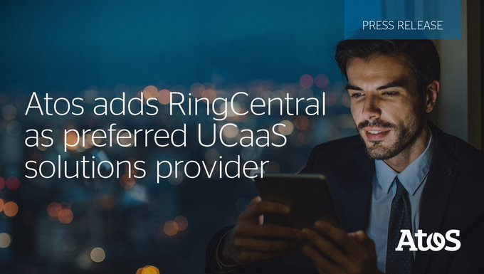 Delighted to announce a new strategic partnership between Atos and @RingCentral bringing the b...
