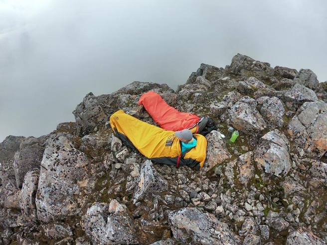 Credit to @otatscotland for braving bivvying on Ben Nevis!   #guidebase #hillwalking #UKscrambling #mountaineering #climbing #adventure #bivvy #bivouac #scottishhighlands #bennevis #thenorthface #scotland