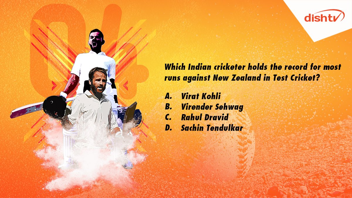 "Q4. ""Which Indian cricketer holds the record for most runs against New Zealand in Test Cricket?""   Stand a chance to win amazing prizes by giving the correct answer using #INDvsNZTestCricket. Get, set, reply!  #ContestAlert #ContestIndia #Contest<br>http://pic.twitter.com/Nb5QSMvkOy"