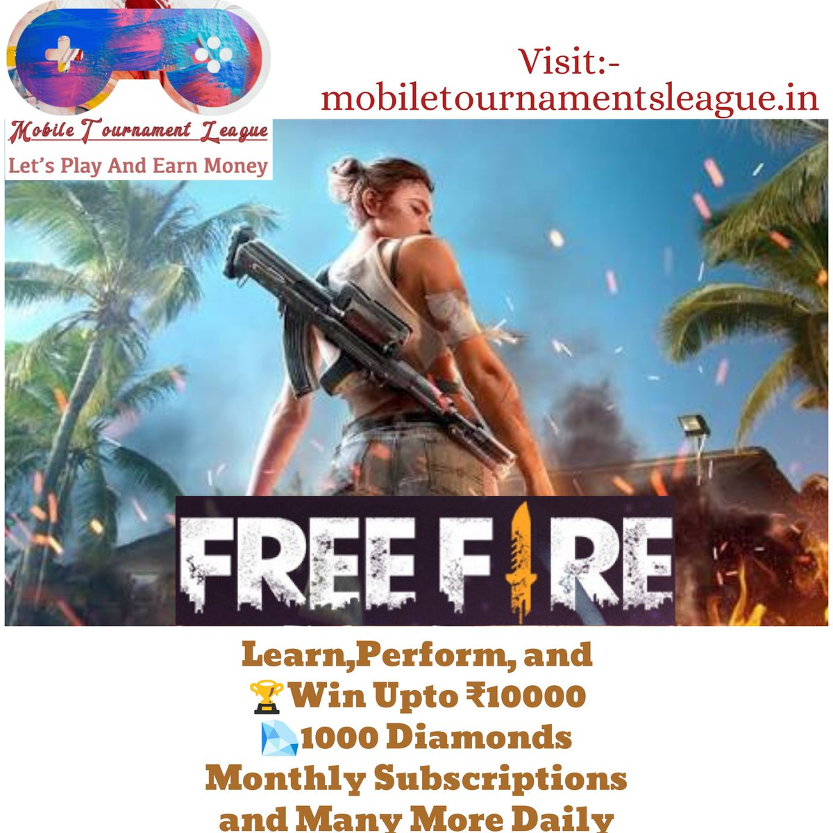 Guys, Visit Our official Website for Earning Money, and Getting DiamondsWeekly and Monthly Memberships by Playing Free* Tournaments, Giveaways, and Many More! Go And Check:-mobiletournamentsleague.in  #study #earnmoney #freefiregame #freefire #freefiregirls #freefireindiapic.twitter.com/Q9Xo8aRtnR