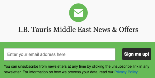 Are you signed up to our Middle East Newsletter? Make sure you're on the list for special offers, exclusive updates, events and more! https://bit.ly/31uNRqx  #MiddleEast #newsletter #newbooks #specialofferspic.twitter.com/FJpZIvOFDr