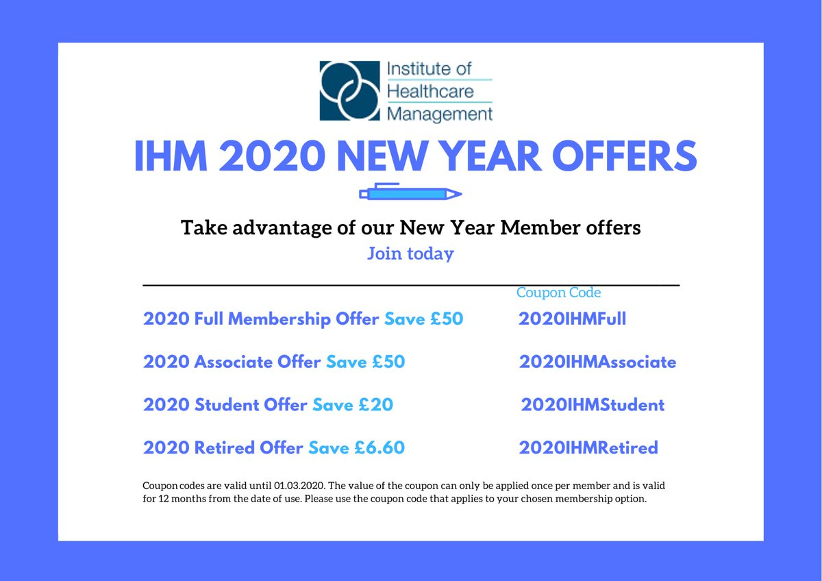 Not yet a member of the IHM? Membership gives you exclusive access to members-only events, webinars, resources and more...  Join today and take advantage of our 2020 New Year Offers.   Join here: https://zcu.io/4EZa   @RoyLilley  #health #wellbeingpic.twitter.com/YSiX08eUHe