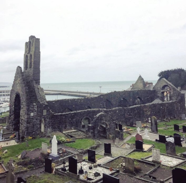The ruins of St Mary's church in Howth, Co Dublin. Most of the present upstanding structure dates from between the 14th and 16th centuries AD