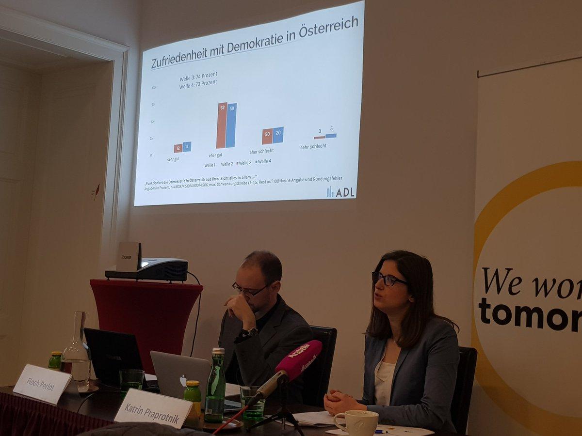 Das ADL-Demokratieradar weist darauf hin, dass die Ereignisse in Ibiza bisher (noch) keine unmittelbaren Auswirkungen auf die Zufriedenheit mit der Demokratie in Österreich gehabt haben. #Demokratie #Österreich #Politikpic.twitter.com/9b9o8CpErP