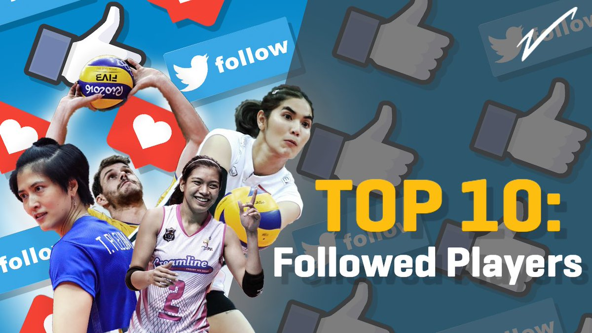 Top 10 most followed 🏐 players in the 🌎 - 3 🇵🇭 make the list 🙌! Who else joins @AlyssaValdez2 & where do they all rank?  👀 ➡️ https://t.co/DicQiZyJsX  Have we missed any other popular players? https://t.co/cfr6UgP1DH