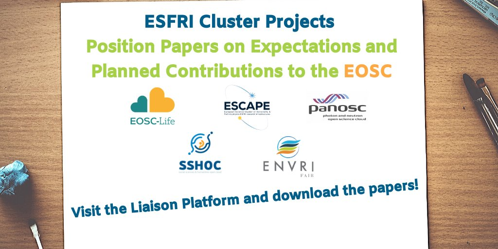 The @EoscSecretariat collected stakeholders' views on the implementation of #EOSC & published position papers from @ESFRI_eu cluster projects, on their expectations from & contributions to EOSCRead it here > https://t.co/uHcZGKiaVf@EoscLife @ESCAPE_EU @SSHOpenCloud @ENVRIcomm