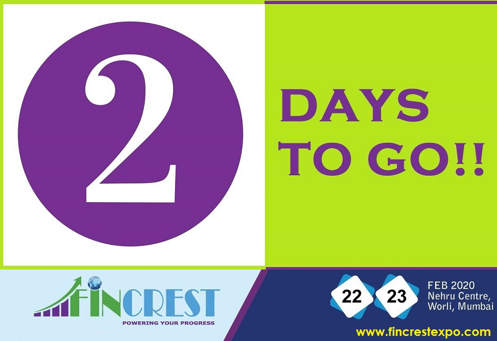 Only two more days to go!! We can't wait to see all of you at #FincrestExpo #Mumbai !! #2DaysToGo #countdown Visit https://www.fincrestexpo.com/conferences-mumbai-2020.php … for more details.  #stockmarket #stocks #investment #wealthcreation #BFSI #Markets  #personalfinance #EqualityForAll #traders #investors #AIpic.twitter.com/YdALcSvqSY