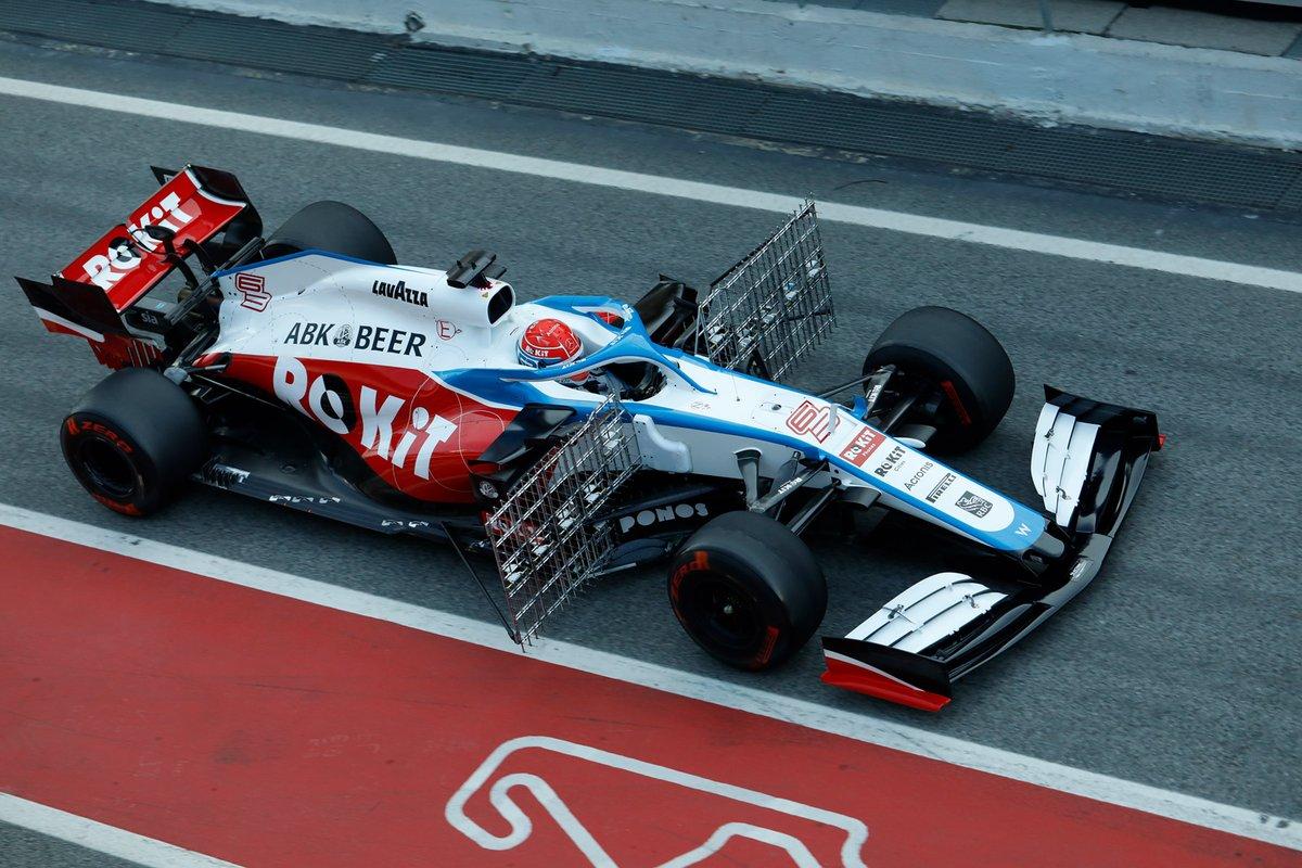 El Williams y sus colores, que la verdad lucen muy bien al natural  #F1 #F1Testing #Day2 Foto: @RaulMolinaRecio