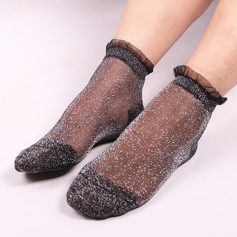 Women Shiny Crystal Silk Thin Ankles Socks🧦🧦🎉🎉These pretty #socks can be fit well with dress, skirt, or shorts and so on. Perfectly match for most shoe styles!❤️❤️👉👉http://bit.ly/32bAiyd