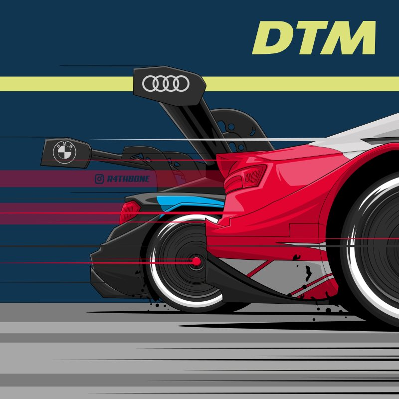 Super excited to be working with @DTM for the coming season. Lots of work to share in the coming months, but here's a little teaser for the time being...  #Illustration #Illustrator #DTM #Audi #BMW #Supercars #RacePoster #PosterArt #Motorsport #Vector #VectorArt #Drawing #DTM2020