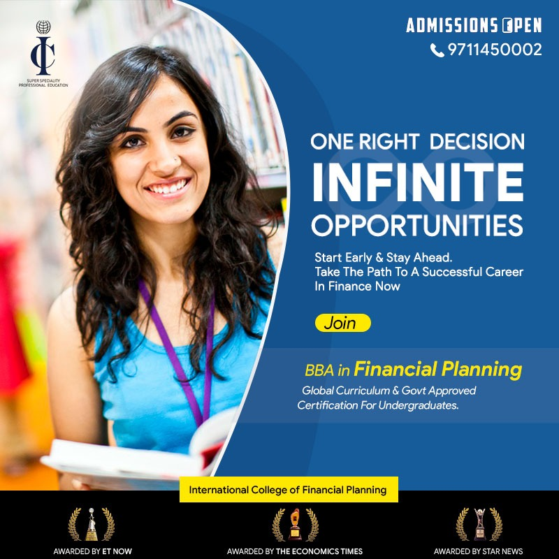 Looking for Study in #Finance After 10+2?  In Today's Era Where Specialists Are The King,Being a Generalist Won't Help.  BBA-FP is a 3-year undergraduate program that is in a way #BBAFinance with a Super Specialisation in #PersonalFinance Space.  For more: https://bit.ly/36oPCbp pic.twitter.com/lO4qzfIIW1