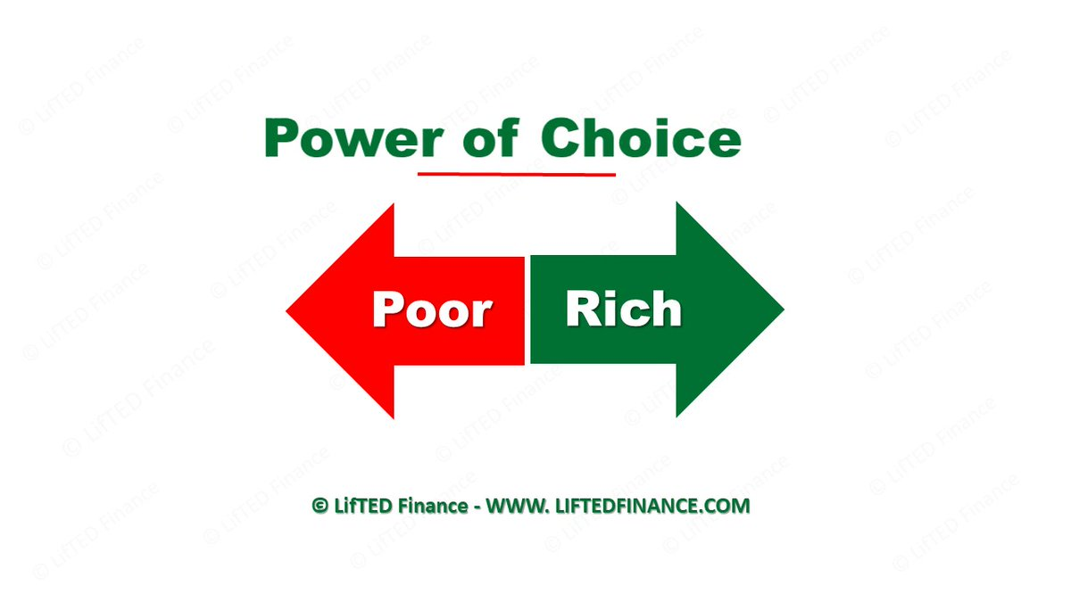 You may be born into poverty, but remaining and dying in poverty is a choice!  #liftedfinance #powerofchoice #choice #poor #rich #choosewisely #personalfinance pic.twitter.com/6ZoNnxdjrP