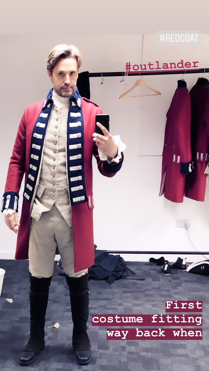 This #RedCoat is pretty gorgeous☺🤗 #LieutenantKnox #OutlanderS5 Credit Michael D Xavier Insta Story