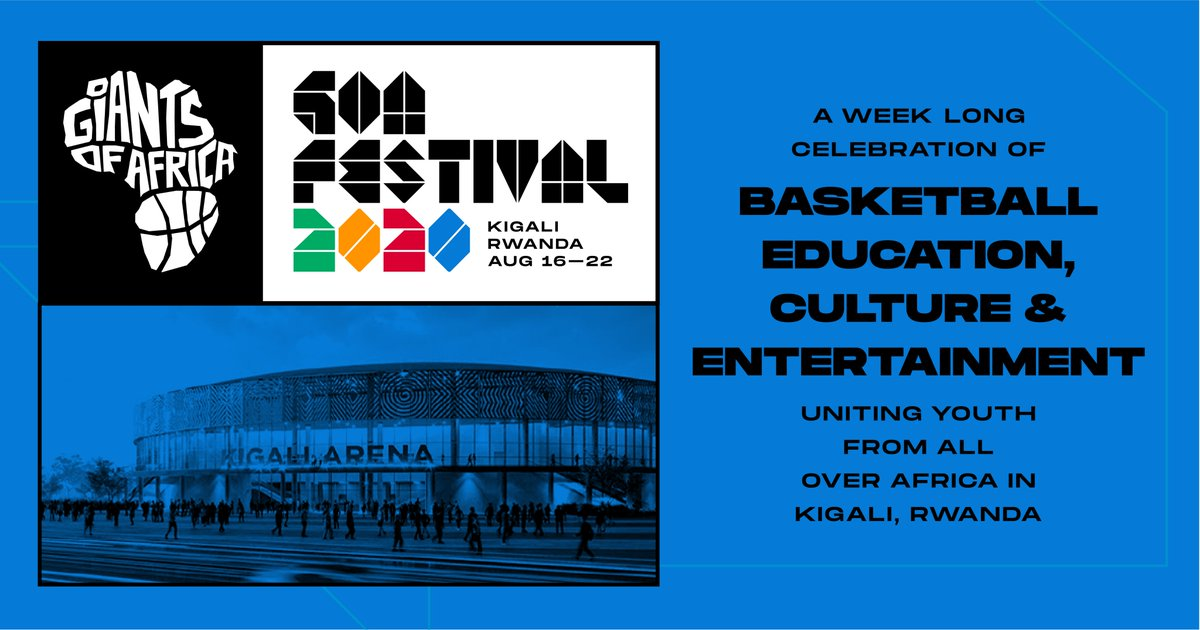 We are proud to announce the launch of the inaugural GOA Festival 2020! A week-long celebration of basketball, education, culture, and entertainment uniting youth from across Africa Aug. 16-22. Visit GOAFESTIVAL.org to learn more and sign up for updates. #GOAFestival2020