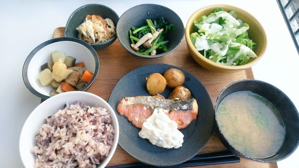 大阪 森ノ宮 Q's MALLの バランス食堂&カフェ アスショクの焼き鮭定食!  #大阪 #森ノ宮 #QsMALL  #定食