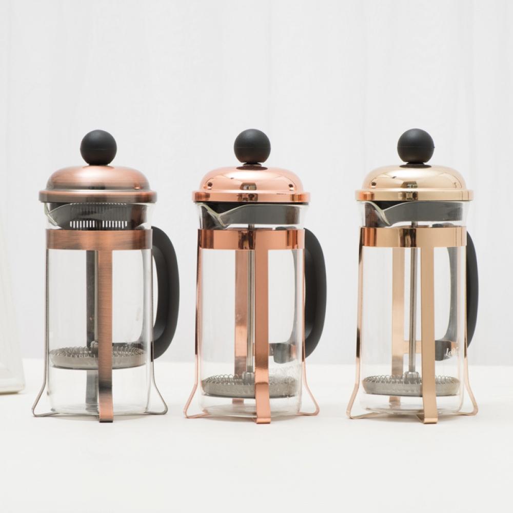 #vscocam #latteart Copper Colored French Press