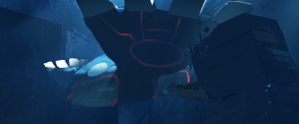 #これを見た人は青色の画像を貼れ水の中の青が好きです。