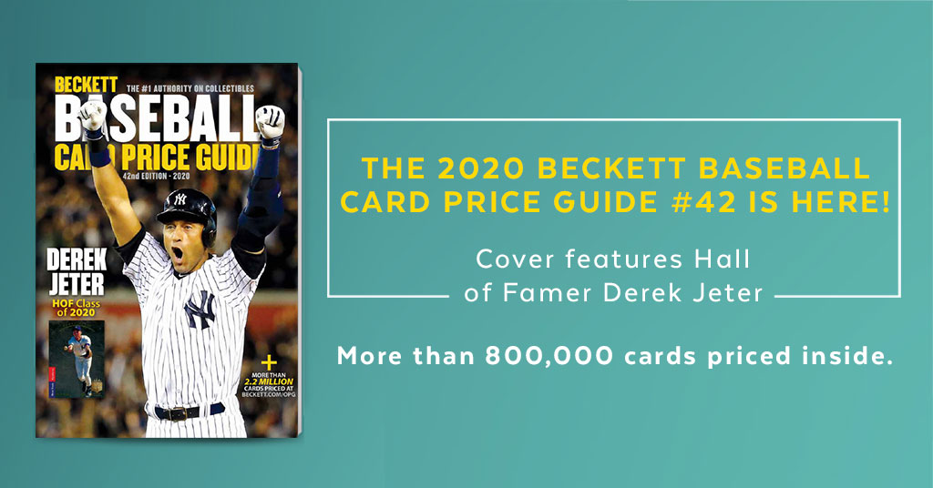 Complete checklists and pricing for every important baseball card set from 1909 through late 2019. Order the new 2020 Beckett Baseball Card Price Guide NOW. https://bit.ly/39TcIsT pic.twitter.com/DUngF1fmik
