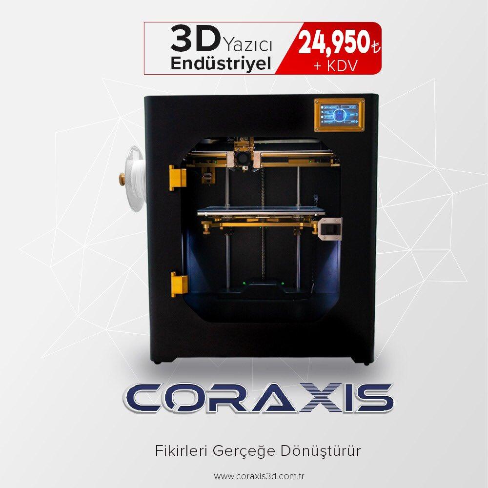 Hayalleri gerçeğe dönüştürmek artık çok kolay. Yerli üretim, Türk mühendislik harikası CORAXIS için şok fiyat... CORAXIS 3D Yazıcı; Elfatek firmasının markası ve üretimidir.  #elfatek #3dprint #3d_printer #3dprinter #3byazıcı #3dprints #3dyazıcı #3dprinters