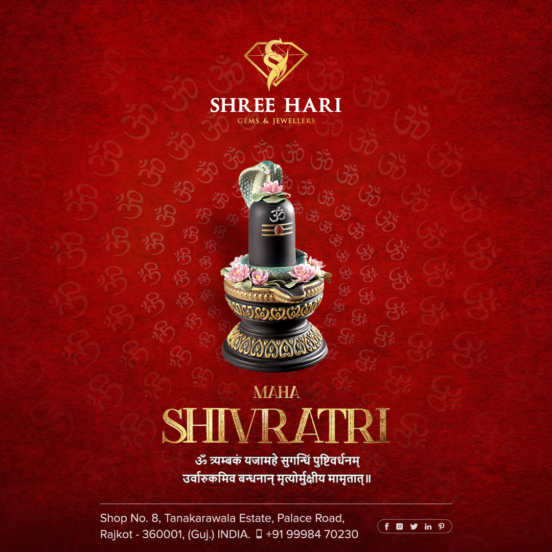 Happy Maha Shivratri . . . #HappyMahaShivratri #MahaShivratri #Shivratri #Shiva #Shiv #ShreeHari #ShreeHariJewellers #Jewellers #Collection #Gold #Silver #JewelryArt #GoldJewellery #Jewellery #Fashion #Gold #Bracelet #Jewels #Style #Accessories #Love #Ring #Wedding