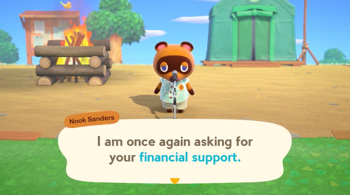 When you find out you can't afford Animal Crossing New Horizons