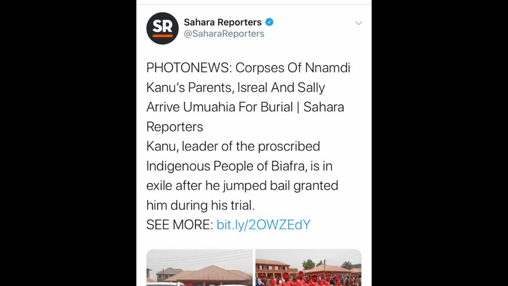 Sowore so, you can get angry when a fake media such as @SaharaReporters tells lies. Well, it is called karma. Below was a nonsense published by your own fake news agency. If you hate evil don't do it to others because it might come back to hunt youpic.twitter.com/67dpOqjPL5