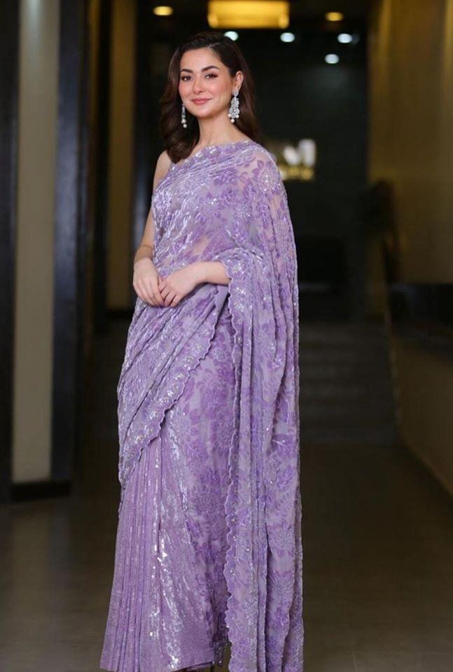 #HaniaAmir looks a vision in this beautiful saree <br>http://pic.twitter.com/Q5psEDu0EJ