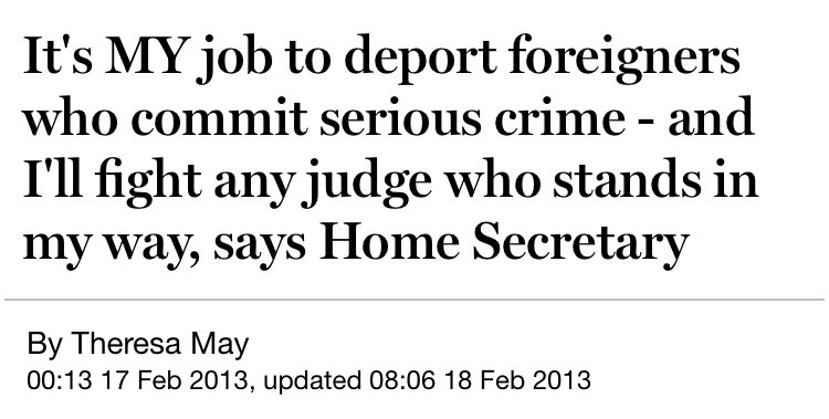 It's hardly surprising that the Home Secretary doesn't understand the rule of law. Most of her predecessors didn't either.