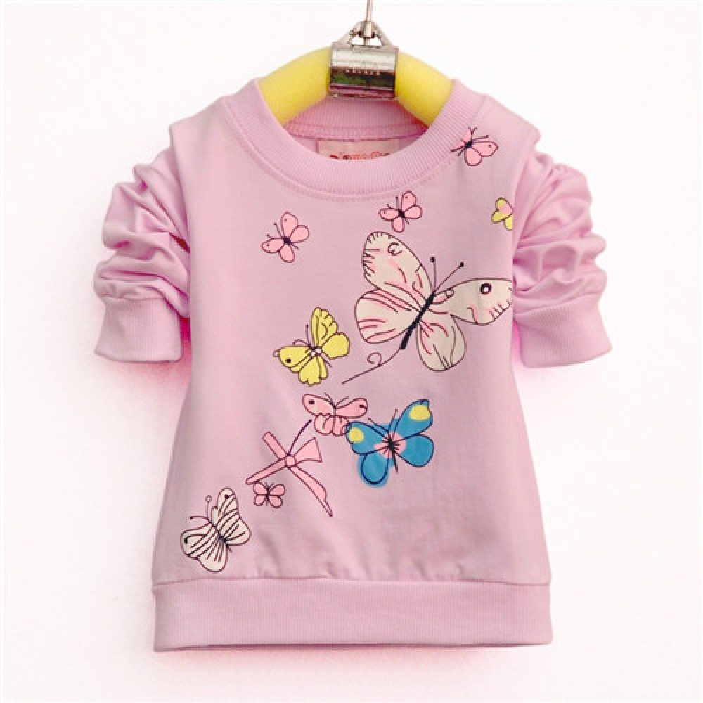 #baby #newbornphotography Girl's Butterflies Long Sleeve Cotton Sweatshirt pic.twitter.com/oghMN1O5GQ