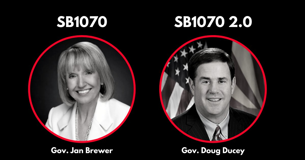 .@dougducey, is this really what you want to be remembered for? #SB1070 #SCR1007